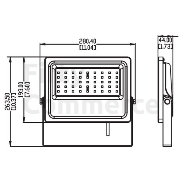 60 watt led bouwlamp afmetingen