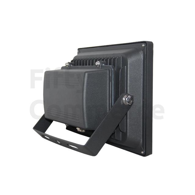 Led bouwlamp 30 Watt koud wit zwarte behuizing