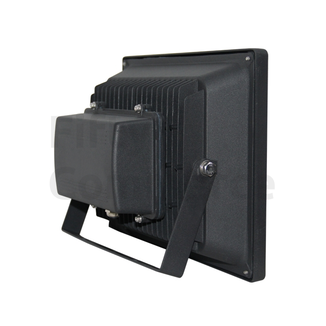 Led bouwlamp 50 Watt warm wit zwarte behuizing