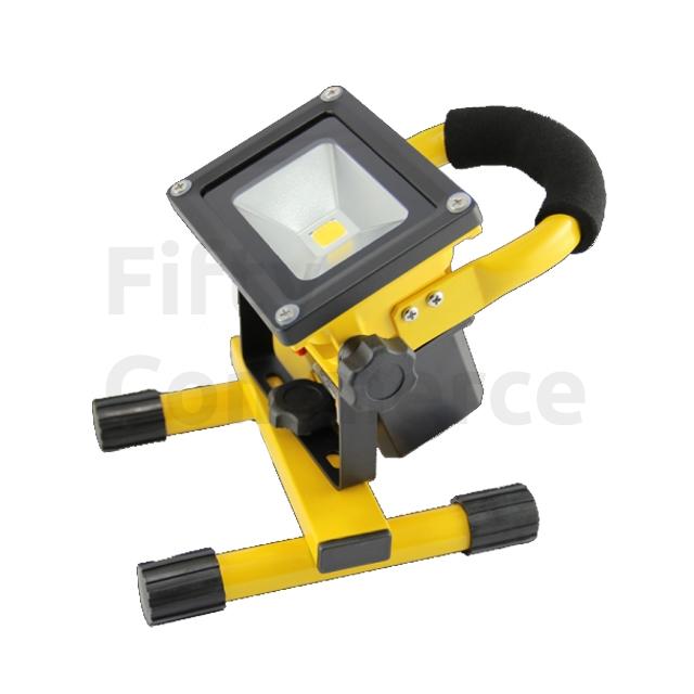 Led bouwlamp 10W met accu