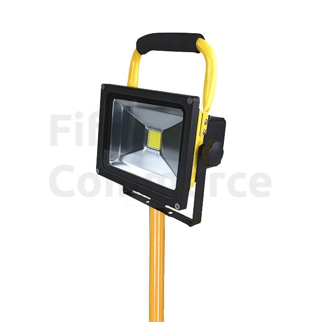 Led bouwlamp 30W met accu op statief