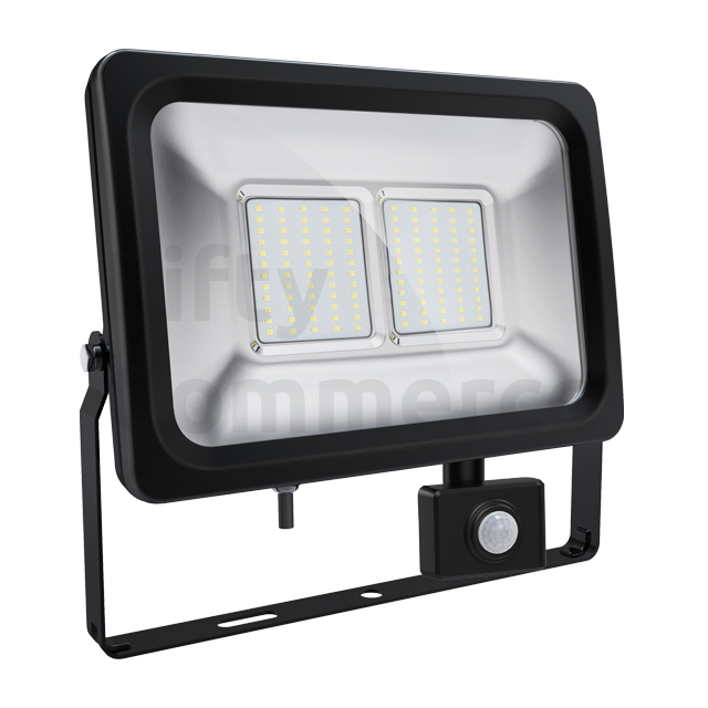 Sensor led bouwlamp 50 Watt koud wit
