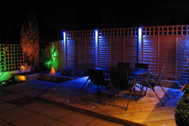 RGB led bouwlampen tuin